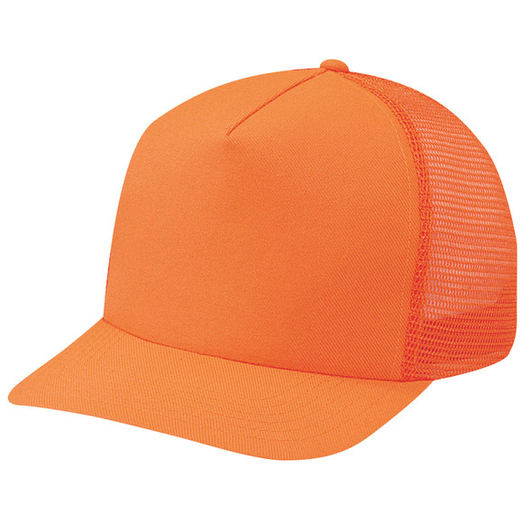 Orange - 8100M Orange Polyester/Nylon Mesh Back Cap | Hats&Caps.ca