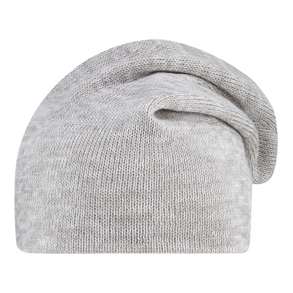White/Grey - 1F073M Slouchy Acrylic Board Toque | Hats&Caps.ca