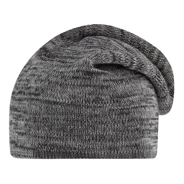 Charcoal/Grey - 1F073M Slouchy Acrylic Board Toque | Hats&Caps.ca
