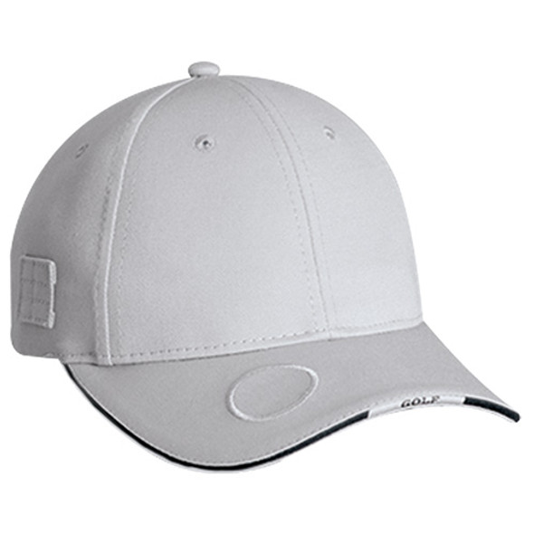 Grey/Black - 6J070M Deluxe Blended Chino Twill 6 Panel Cap   Hats&Caps.ca