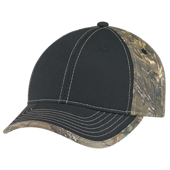 Black/Realtree Xtra® - 6Y375M Deluxe Camo Brushed Polycotton Realtree AP® Cap | Hats&Caps.ca