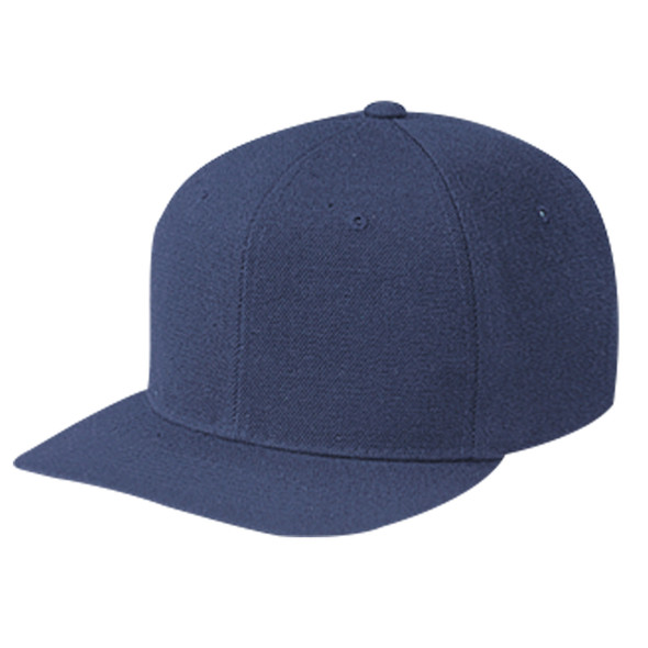 Navy - 1240M Wool Serge 6 Panel Pro Cap | Hats&Caps.ca