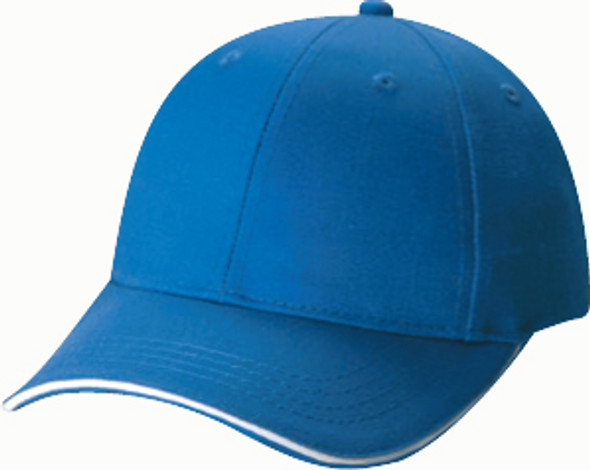 Blue/White - 5150B Polycotton 6 Panel Youth Cap | Hats&Caps.ca