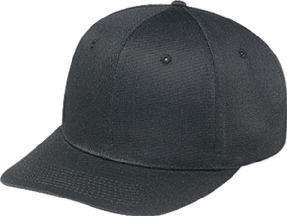 Black - 5240M Polycotton 6 Panel Pro Cap | Hats&Caps.ca