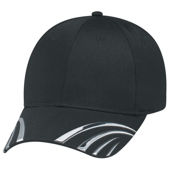 Black - 5450M Polycotton Claw Cap | Hats&Caps.ca