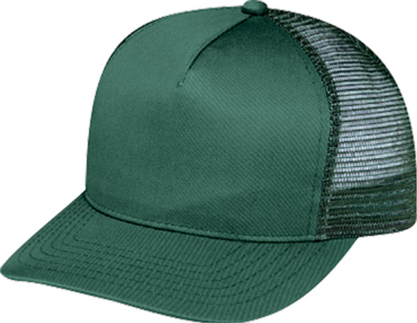 Forest - 5800M Polycotton/Nylon Mesh Back Cap | Hats&Caps.ca