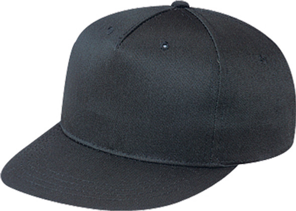 Black - 5810B Polycotton 5 Panel Youth Cap | Hast&Caps.ca