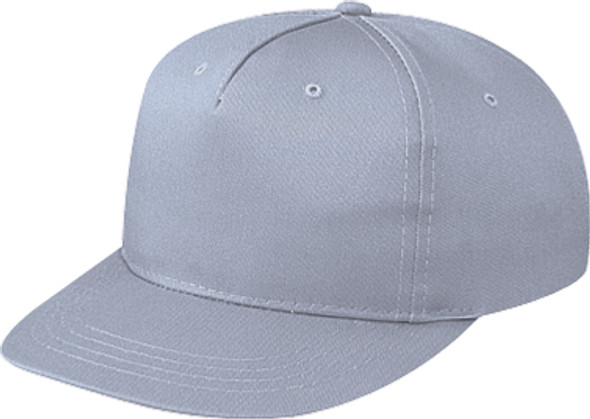 Grey - 5810B Polycotton 5 Panel Youth Cap | Hast&Caps.ca