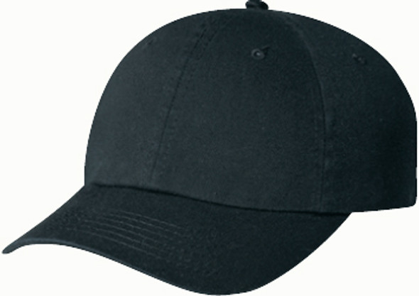 Washed Black - 6D770M Enzyme Washed Deluxe Chino Twill Cap