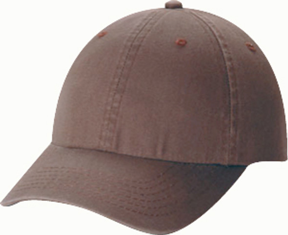 Washed Brown - 6D770M Enzyme Washed Deluxe Chino Twill Cap