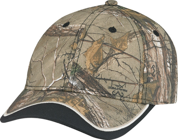 Black/Realtree Xtra® - 6Y043M Deluxe Camouflage Chino/Polycotton Cap | Hast&Caps.ca