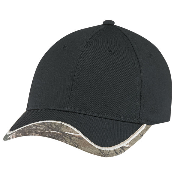 Realtree Xtra®/Black - 6Y044M Mossy Oak Polycotton/Chino Twill Cap | Hats&Caps.ca
