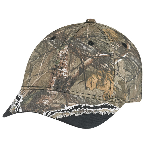 Black/Realtree Xtra® - 6Y123M Forest Chino/Polycotton Camo Cap | Hats&Caps.ca