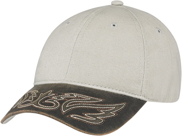 Distressed Brown/Taupe -  Constructed Full-Fit Western Cap   Hats&Caps.ca