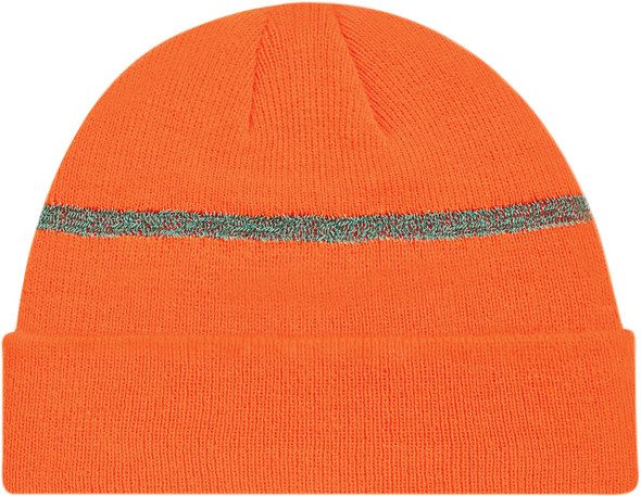 Fluorescent/Reflective Grey - Safety Acrylic Cuff Toque | Hats&Caps.ca