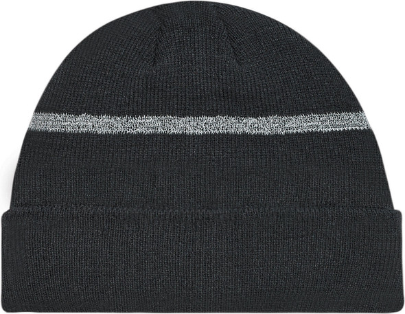 Black/Reflective Safety Acrylic Cuff Toque