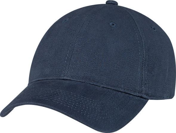Navy - Heavyweight Cotton Constructed Full-Fit Cap | Hats&Caps.ca