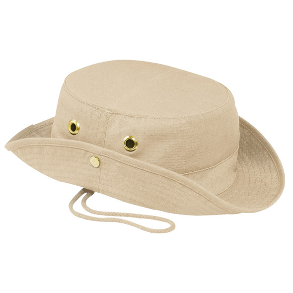 Natural - 3C120M Canvas Bush Style Cotton Hat | Hats&Caps.ca