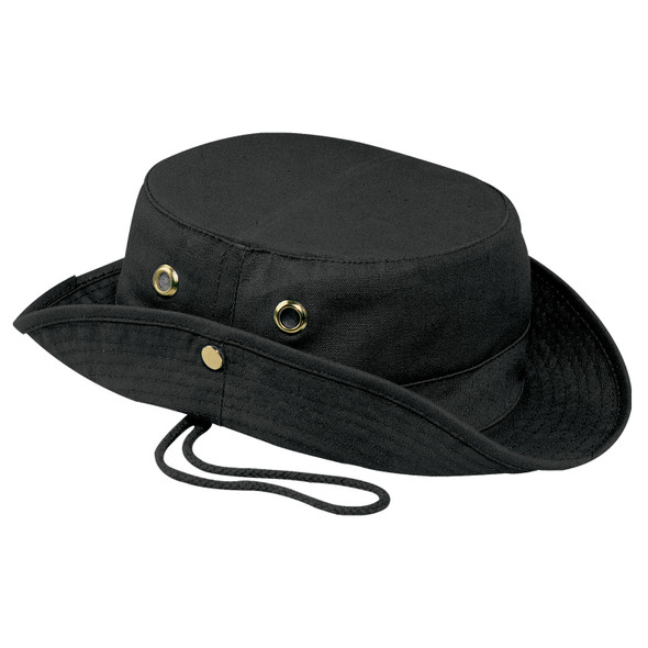 Black - 3C120M Canvas Bush Style Cotton Hat | Hats&Caps.ca