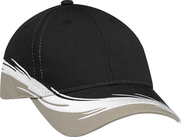 Clay/Black Poly/Cotton Constructed Full-Fit Flare Cap