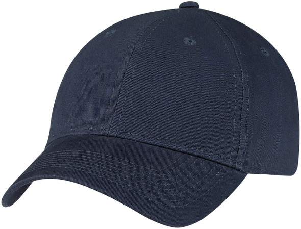Navy Brushed Cotton Drill Constructed Full-Fit Cap
