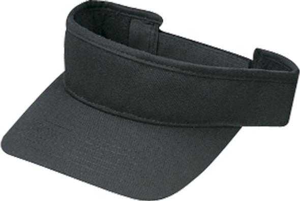 Black - Deluxe Blended Chino Twill Visor | Hats&Caps.ca