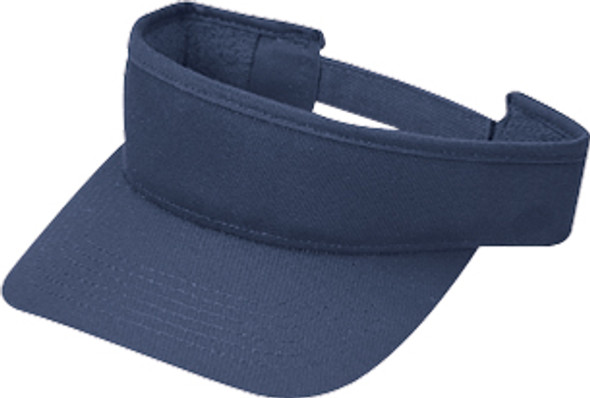 Navy - Deluxe Blended Chino Twill Visor | Hats&Caps.ca