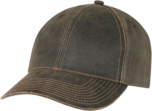 Brown Pigment Dyed Washed Poly/Cotton Constructed Full-Fit Cap
