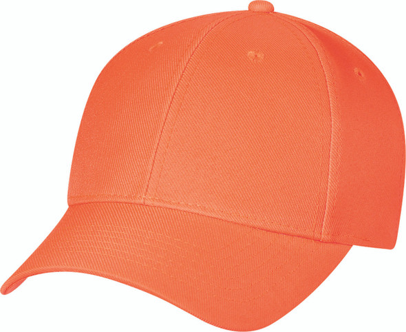 Fluorescent Orange - Polyester Constructed Contour Cap } Hats&Caps.ca