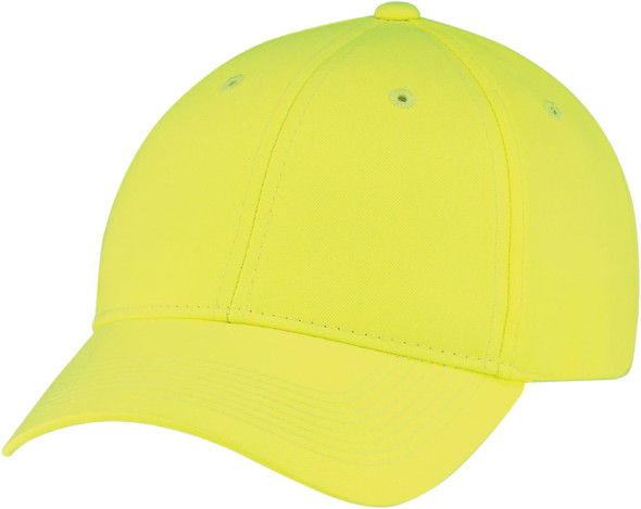 Safety Green 8630M Safety Polyester Constructed Full-Fit Cap | Hatsandcaps.ca
