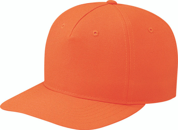 Fluorescent Orange - Polyester Pro-Look Cap | Hats&Caps.ca