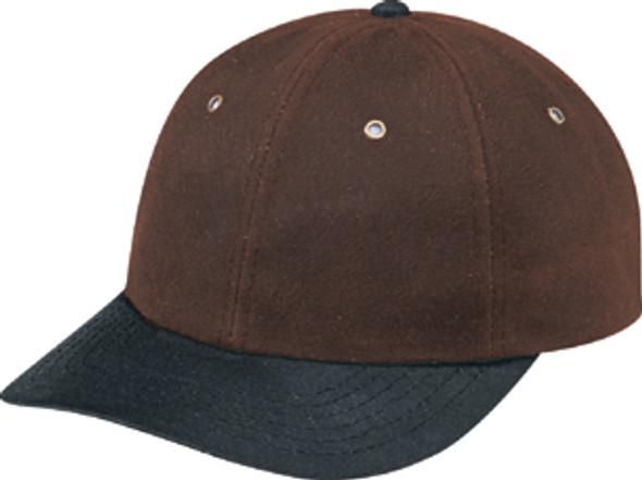 Black/Brown - Waxed Cotton Oilskin Contour Cap   Hats&Caps.ca