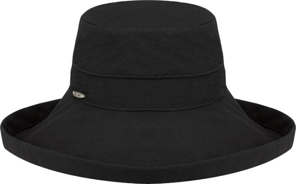 Black - 9L000L Ladies Deluxe Cotton Wide Brim Style Hat | Hats&Caps.ca