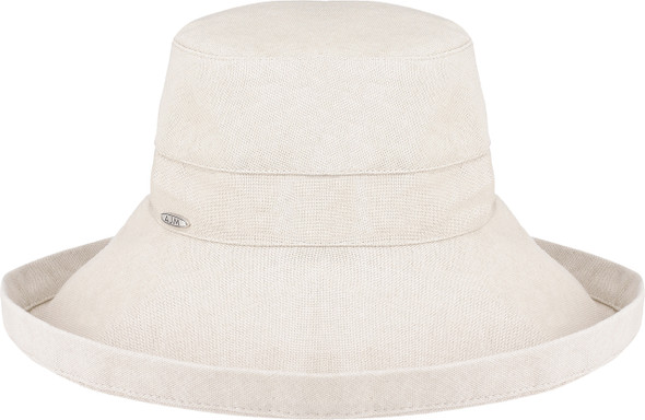 Natural 9L000L Ladies Deluxe Cotton Wide Brim Style Hat | Hatsandcaps.ca