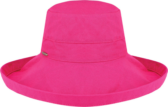 Fuchsia - 9L000L Ladies Deluxe Cotton Wide Brim Style Hat | Hats&Caps.ca