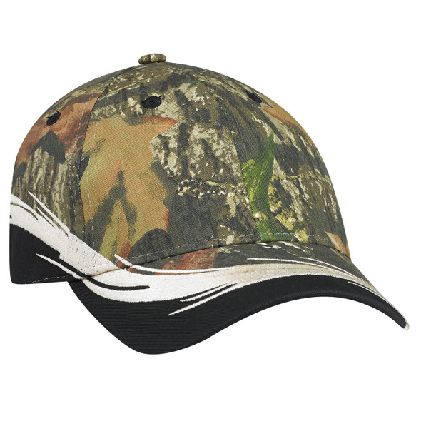 Black/Mossy Oak Break Up® - 6Y223M Chino Twill Camo Cap | Hats&Caps.ca