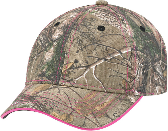 Realtree Xtra®/Pink - 6Y434M Brushed Polycotton Camo Cap | Hats&Caps.ca