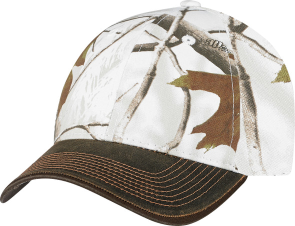 Brown/Realtree AP Snow® - 6Y638M Pigment Dyed Washed & Brushed Poly/Cotton Cap | Hat&Caps.ca
