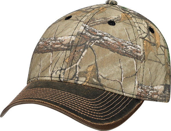Brown/Realtree Xtra® - 6Y638M Pigment Dyed Washed & Brushed Poly/Cotton Cap | Hat&Caps.ca