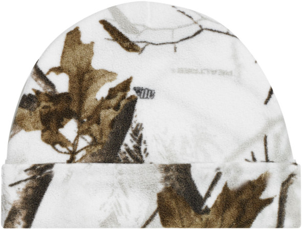 Realtree AP Snow® - 6Z554M Micro Fleece Camo Cuff Toque | Hats&Caps.ca