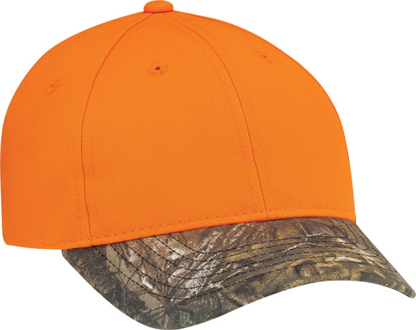 Realtree Xtra®/Fluorescent Orange - 8A448M Brushed Realtree Cap | Hats&Caps.ca