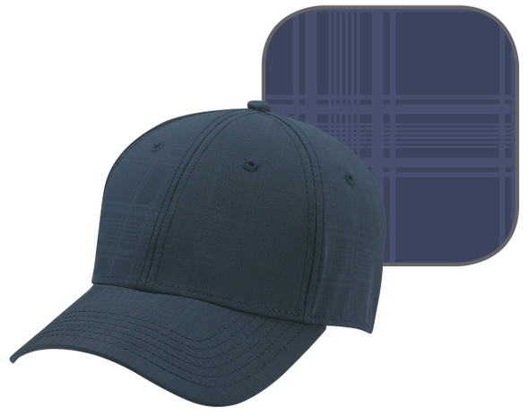 Midnight Blue - AC0006 Polyester Plaid Cap | Hats&Caps.ca