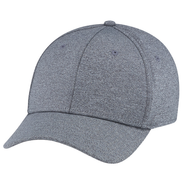 Charcoal - AC0008 Polyester Heather Spandex Cap | Hats&Caps.ca