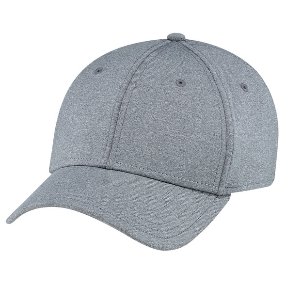 Grey - AC0008 Polyester Heather Spandex Cap | Hats&Caps.ca