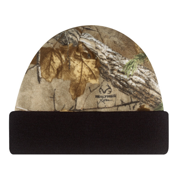 Black/Realtree Xtra® - 6Q558M Micro Fleece Toque | Hats&Caps.ca