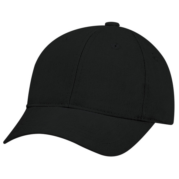 Black - 5D390B Brushed Cotton Drill Youth Cap | Has&Caps.ca