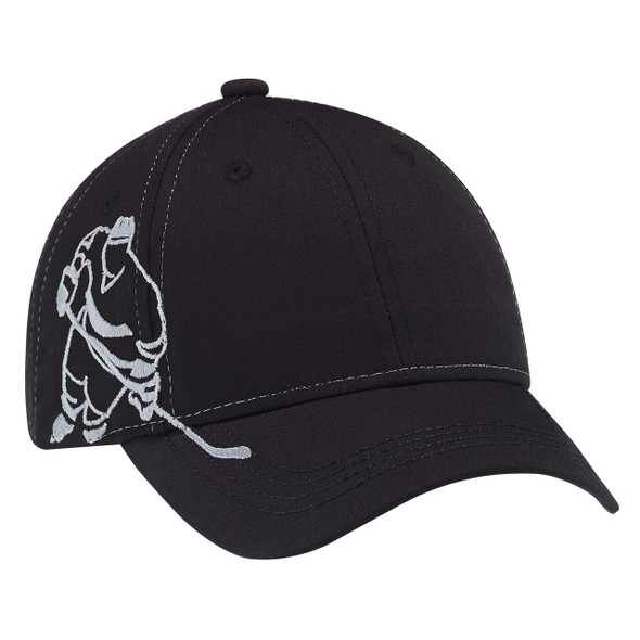 Black - 5680B Polycotton Youth Hockey Cap | Hats&Caps.ca