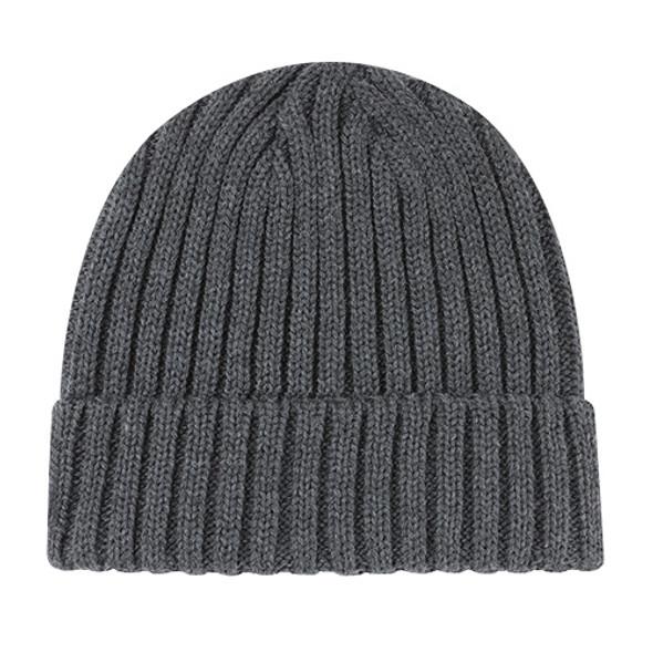 Charcoal - 9Z590M Acrylic Cuff Toque Fleck Jersey Knit | HatsandCaps.ca