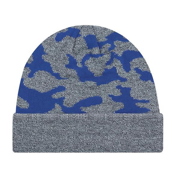 Royal Blue - 9V552M Acrylic Cuff Toque (Urban Camo) | Hatsandcaps.ca