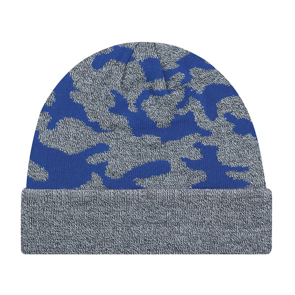 Royal Blue - 9V552M Acrylic Cuff Toque (Urban Camo) | Hats&Caps.ca